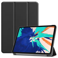 Smart Case para Apple iPad 12,9 (2020) - A2229, A2233 - Cuero artificial, negro Funda