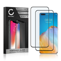 2x Skärmskyddsglas Huawei P40 Pro Plus (3D Full Cover, 9H, 0,33mm, Full Glue) Displayskydd Mobilskydd