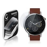 2x Cristal protector de la pantalla Motorola Moto 360 (2. Gen) - 46mm (2.5D, 9H, 0,33mm, Full Glue) Protector pantalla