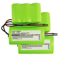 2x Battery 12V, 3000mAh, NiMH for Zepter Turbohandy 2 in 1, PWC-400 - E-1486 Spare Battery Replacement