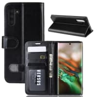 Case for Samsung Galaxy Note 10 (SM-N970) - PU Leather, Black Case
