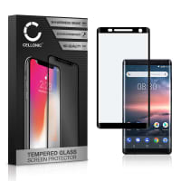 Skærmbeskytter glas Nokia 8 (2017) (3D Full Cover, 9H, 0,33mm, Full Glue) Screen Protector