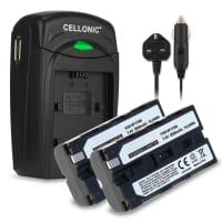 Battery for Sony HDV-Z1 DCR-VX2100e DCR-TRV9 DSR-PD150 -PD170 HDR-FX7e -FX1 GV-D200 HDR-FX1000e - NP-F550 -F330 -F750 (2600mAh) Replacement battery