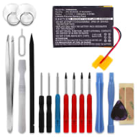 Batterij voor Cowon M2 - P140409301, PR-464465N (1300mAh) + Schroevendraaier-set Vervangende Accu