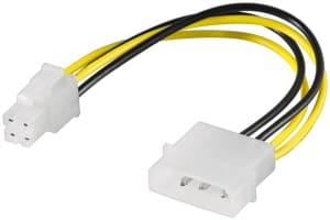 PC Stromkabel/Stromadapter - 1x Molex-Stecker (4-Pin) > ATX12 P4 (4-Pin)