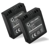 2x Batteria per Panasonic Lumix DMC-FZ10, DMC-FZ20, DMC-FZ5, -FZ1, -FZ15, -FZ2, -FZ3, DMC-FC20 - CGA-S002e,CGA-S002e-1B,CGR-S002,DMW-BM7 (700mAh) batteria di ricambio