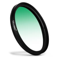Puolivärisuodin Graduated color filter Vihreä varten Olympus M.Zuiko Ø 62mm Puolivärisuodin Gradient Filter