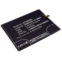 Accu voor ZTE Blade V6 - Li3822T43P3h786032 (2200mAh) vervangende accu