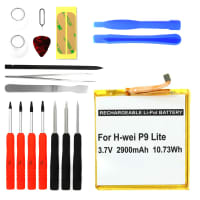 Batterie pour Huawei P20 / P10 / P9 / P Smart / LIte / Y6, 7 / Honor 8, 9 - HB366481ECW (2900mAh) + Set de micro vissage, Batterie de remplacement