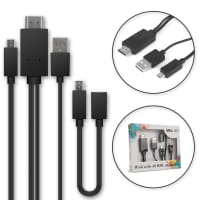 MHL-adapter micro-USB naar HDMI Kabel voor smartphone en tablet + 11-pins adapter