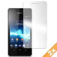 2x Displaybeschermfolie voor Sony Xperia V (LT25i) (Transparant)