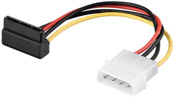 PC Y Stromkabel/Stromadapter - SATA Stecker 90° > Molex (4-Pin)