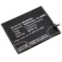 Battery for MeiZu M3 Note - BT61-A (4000mAh) , Replacement battery