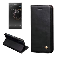 Smart Case para Sony Xperia XZ / XZs - Cuero artificial, negro Funda