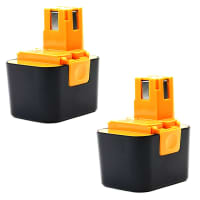 2x Battery 7.2V, 3Ah, NiMH for Panasonic EY3653 CQ, EY3654, EY3654 CQ - EY9066, EY9166 replacement battery