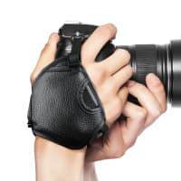 Sangle poignet pour Canon EOS, Panasonic Lumix, Nikon D, Sony Alpha et autres marques (environ 25cm) Vis/Filetage 1/4
