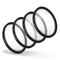 4x Close-Up Makro Filter für Ø 49mm Nahlinsen Set