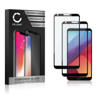 2x Screen protector glass LG G6 (3D Full Cover, 9H, 0,33mm, Full Glue) Tempered Glass