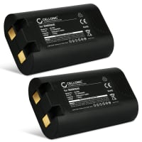2x Battery for DYMO LabelManager 360D, LabelManager 420P, Rhino 4200, Rhino 5200, 3M PL200 - S0895840,W002856 (1600mAh) Replacement battery