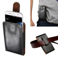 Flip Wallet for the belt / Smartphones (14.5cm x 7.7cm x 2.0cm / ~ 4,9 - 5,2