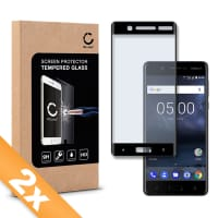 2x Displaybeschermglas voor Nokia 5 (2017) - Tempered Glass (HD kwaliteit / 3D Full Cover / 0,33mm / 9H)