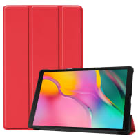 Case for Samsung Galaxy Tab A 10.1 2019 (SM-T510 / SM-T515) - Artificial leather, Red Case