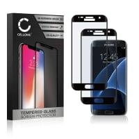 2x Protection d'écran en verre Samsung Galaxy S7 Edge (SM-G935 / SM-G935F) (3D Full Cover, 9H, 0,33mm, Full Glue) Verre trempé