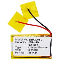 Akku für Sony SBH-20 - 381424, AHB441623 110mAh Ersatzakku