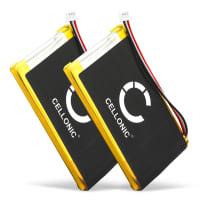 2x Batterie pour navigateur GPS TomTom GO 530, GO 630, GO 720, GO 730, GO 930, Traffic, SatNav - AHL03714000,VF8 1300mAh