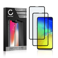 2x Panzerglas Samsung Galaxy S10e (SM-G970) (3D Case-friendly, 9H, 0,33mm, Edge Glue) Displayschutz Tempered Glass