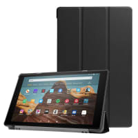 Case for Amazon Fire HD 10 2017 / 2019 - synthetic Leather, Black Case
