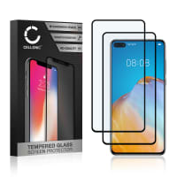2x Skärmskyddsglas Huawei P40 (3D Case-friendly, 9H, 0,33mm, Full Glue) Displayskydd Mobilskydd