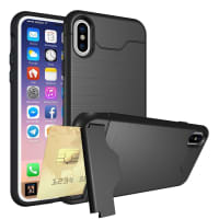 Tapa trasera para Apple iPhone X - TPU, negro Funda