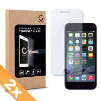 2x Cristal protector de la pantalla para iPhone 6 Plus / 6S Plus - Tempered Glass (Calidad HD / 2.5D / 0,33mm / 9H)