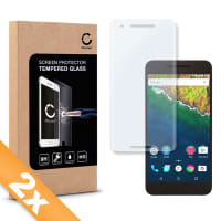 2x Screen protector glass for Huawei / Google Nexus 6P - Tempered Glass (HD-Quality / 2.5D / 0,33mm / 9H)