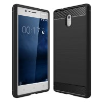 Back Cover for Nokia 3 (2017) - TPU, black Case