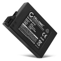 Akku pelikonsoliin Sony PSP Brite (3000 / 3001 / 3004) / PSP Slim & Lite (2000 / 2004) - PSP-S110, 1200mAh, 3.6V - 3.7V, Litiumionit vaihtoakku