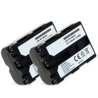 2x Batterie pour Sony SLT-A58 SLT-A77 SLT-A65 SLT-A57 ILCA-77M2 SLT-A99 DSLR-A200 - NP-FM500H (1400mAh) Batterie de remplacement