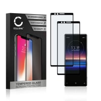 2x Screen protector glass Sony Xperia 1 (3D Full Cover, 9H, 0,33mm, Edge Glue) Tempered Glass