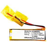 Batterij voor Plantronics M50, Discovery 640E, 650E - 1704018-0944, 71468-01 80mAh vervangende accu