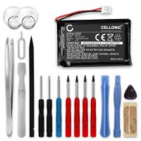 Batterie pour Manette PS4 V1 (2013) - DualShock 4 LIP1522 (1300mAh), Batterie de remplacement pour Contrôleur Playstation 4 1ère Édition + Set de micro vissage