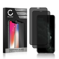 2x Privacy Skærmbeskytter glas Apple iPhone 11 Pro (3D Case-friendly, 9H, 0,33mm, Full Glue) Screen Protector