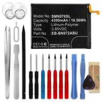 Batterie pour Samsung Galaxy Note 10 Plus (SM-N975) / Galaxy Note 10 Plus 5G (SM-N976) - EB-BN972ABU, EB-BN972ABUL, GH82-20814A (2850mAh) + Set de micro vissage, Batterie de remplacement