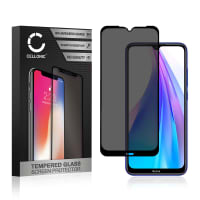 Privacy Panzerglas Xiaomi Redmi Note 8T (3D Case-friendly, 9H, 0,33mm, Edge Glue) Displayschutz Tempered Glass