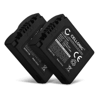 2x Kamera Akku für Leica V-LUX 1 Lumix DMC-FZ8 DMC-FZ7 DMC-FZ18 DMC-FZ28 DMC-FZ30 DMC-FZ35 - CGR-S006e CGA-S006a DMW-BMA7 BP-DC5 Ersatzakku 750mAh , Batterie