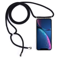 Smartphone necklace for iPhone 11 - Silicone, Crystal Clear Case