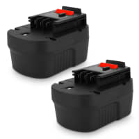 2x Battery 12V, 3Ah, NiMH for Black & Decker CD12S / CL12 / CP12 / CP121 / CP122 / EPC12 / EPC126 / EPC128 - A12, A12E, HPB12 replacement battery