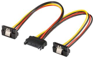 PC Y Stromkabel/Stromadapter - SATA Standard Buchse > 2x SATA-Standard Stecker 90°