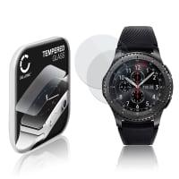 2x Cristal protector de la pantalla Samsung Gear S3 Frontier (SM-R760) (2.5D, 9H, 0,33mm, Full Glue) Protector pantalla