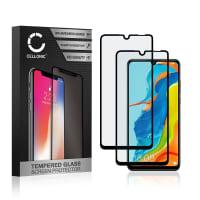2x Displaybeschermglas Huawei P30 Lite (3D Case-friendly, 9H, 0,33mm, Full Glue) Tempered Glass